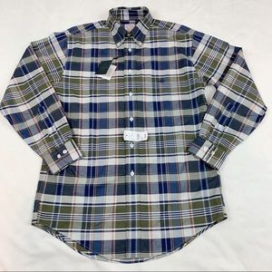 Brooks Brothers non-iron plaid button down shirt